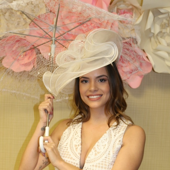 Tea Party Themed Hat Worn Once For Bridal Shower